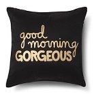 Good Morning Gorgeous! Decorative Pillow - Navy/Gold (Square) - Xhilaration™