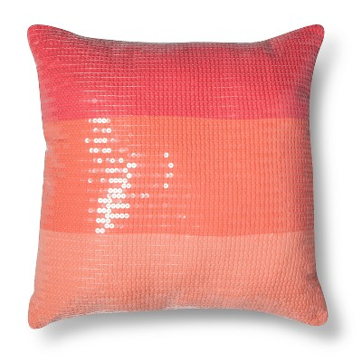 Ombre Sequin Decorative Pillow - Pink (Square) - Xhilaration™