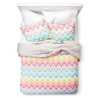 Xhilaration™ Chevron Print Comforter Set - Pink (Full/Queen)