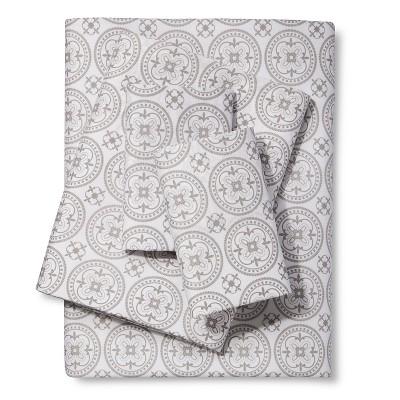 Printed Medallion Sheet Set - Gray (Twin) - Xhilaration™