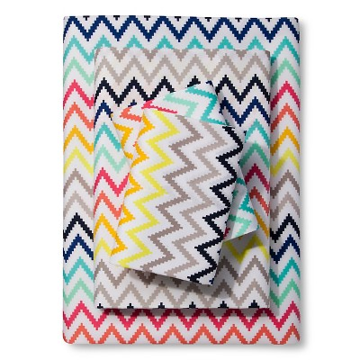 Printed Chevron Sheet Set - Multicolor (Queen) - Xhilaration™