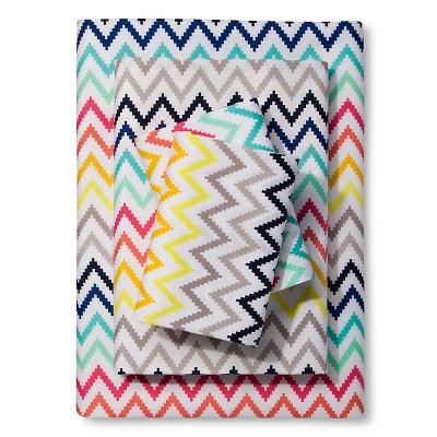 Printed Chevron Sheet Set - Multicolor (Twin) - Xhilaration™