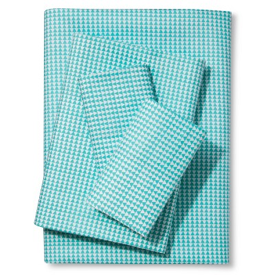 Printed Triangle Sheet Set - Turquoise (Full) - Xhilaration™
