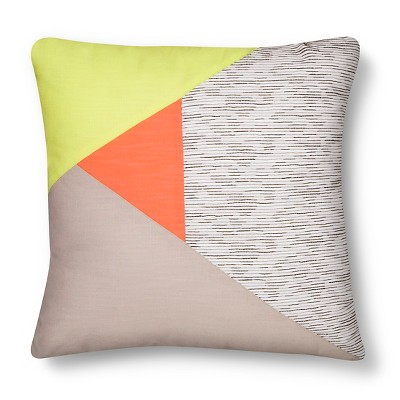 Room Essentials™ Colorblock Decorative Pillow - Coral (Square)