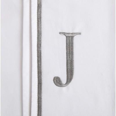 Monogram Letter J Pillowcase 2 Pack - White (Standard)