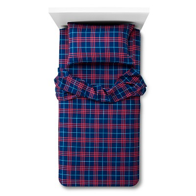 Circo™ Plaid Flannel Sheet Set - Blue (Toddler)