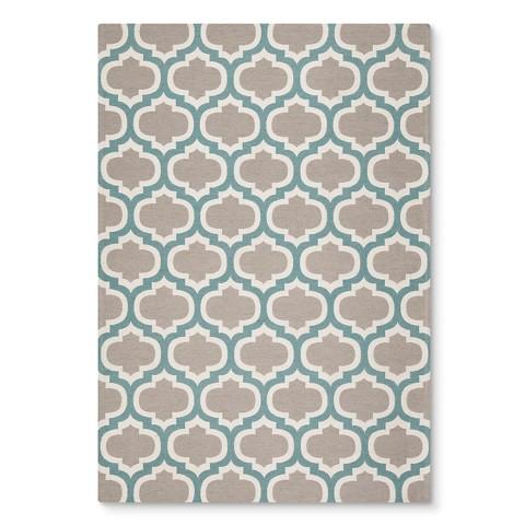 threshold indoor outdoor flatweave fretwork rug target