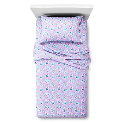Circo™ Butterfly Flannel Sheet Set - Purple (Toddler)