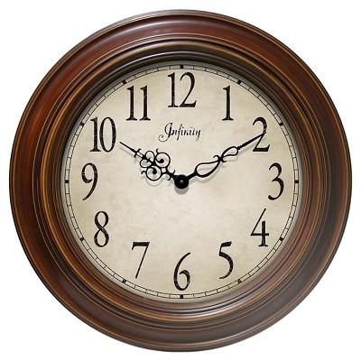 The Athenaeum Round Clock Walnut