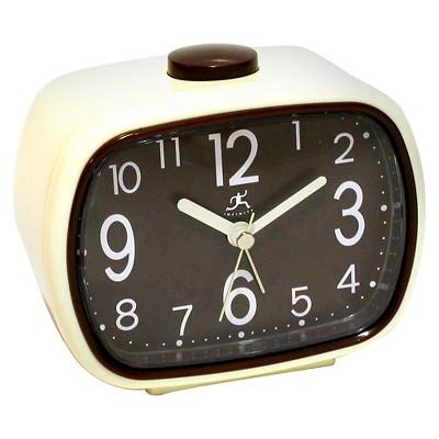 Ecom Alarm Clock Infinity Instruments Brown Alarm