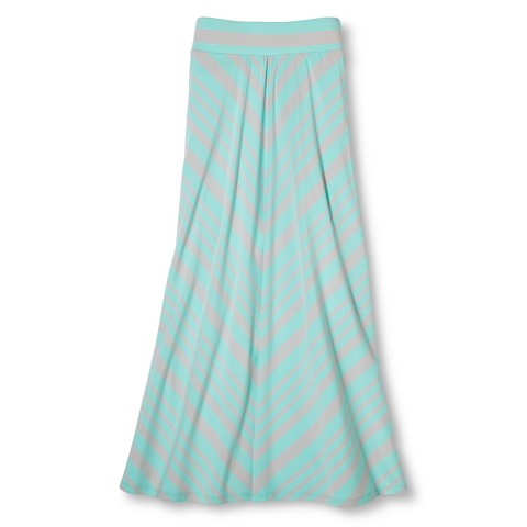 chevron maxi skirt crystalized green target