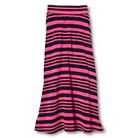 Girls' Chevron Print Maxi Skirt