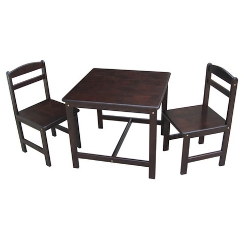 International concepts kids table and chairs rich mocha product