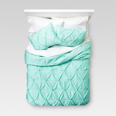 Pinched Pleat Comforter Set Full/Queen Green - Threshold™