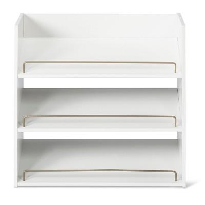 3-Shelf Stackable Shoe Rack - White - Room Essentials™