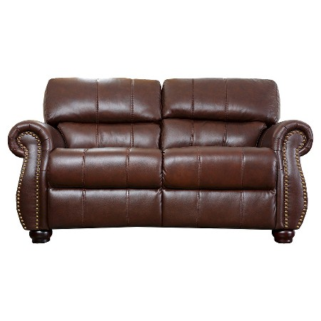 page asher fabric pushback recliner dark brown abbyson living