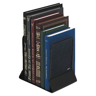 Rolodex™ Mesh Bookends, Steel, 4 3/4 x 5 1/4 x 6 1/2, Steel, Black