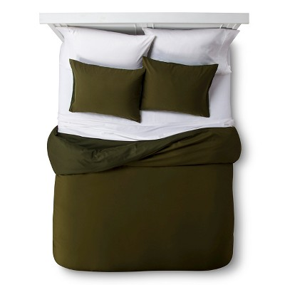 Room Essentials™ Solid Duvet Set - Olive (Full/Queen)