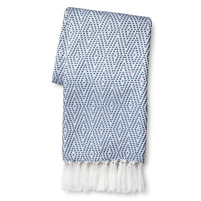 "Sabrina Soto Patterned Throw - Blue (50""x60"")"