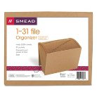 Smead® 1-31 Indexed Accordion Expanding Files, 31 Pockets, Kraft, Letter, Kraft