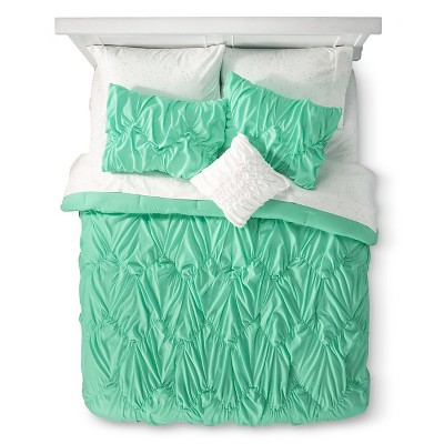 Xhilaration™ Chevron Texture Bed in a Bag - Green (Queen)