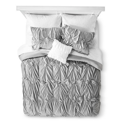 Xhilaration™ Chevron Texture Bed in a Bag - Gray (Queen)