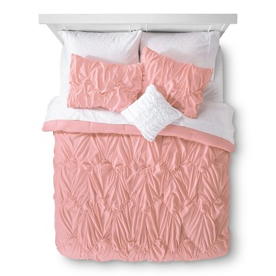 Xhilaration™ Chevron Texture Bed in a Bag - Peach (Twin)
