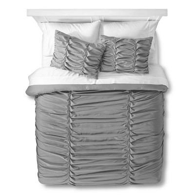 Xhilaration™ Braided Texture Comforter Set - Gray (Full/Queen)