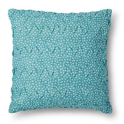 Xhilaration™ Smocking on Turq & White Dot Print Decorative Pillow