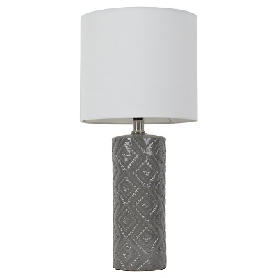 Room Essentials™ Textured Table Lamp Gray (Includes CFL Bulb)
