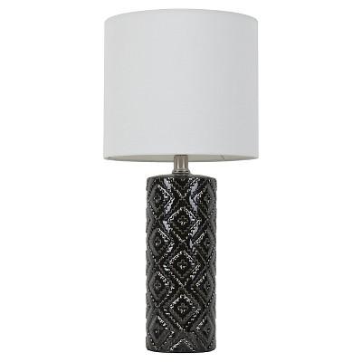 Room Essentials™ Textured Table Lamp Ebony (Includes CFL Bulb)