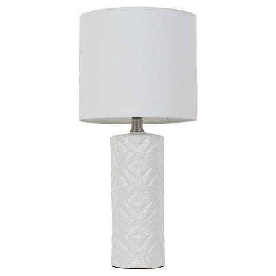 Room Essentials™ Textured Table Lamp White (Includes CFL Bulb)
