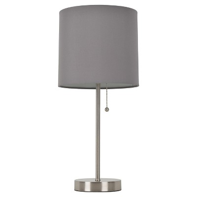 Room Essentials™ Stick Lamp Gray (Includes CFL Bulb)