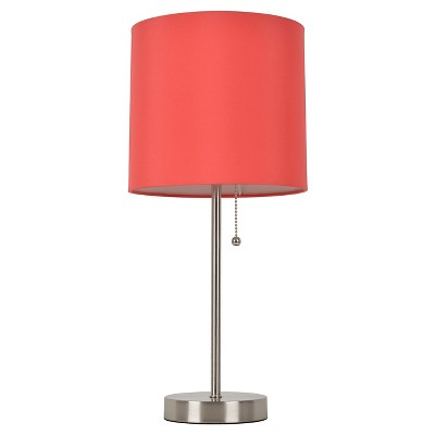 Room Essentials™ Stick Lamp Vermillion (Includes CFL Bulb)