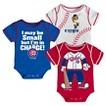 Chicago Cubs Boys 3pk Body Suit