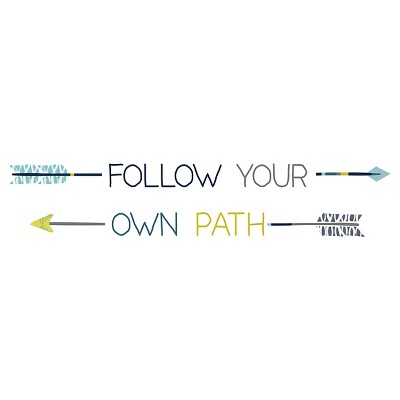 Follow your own Path  Wall Decal