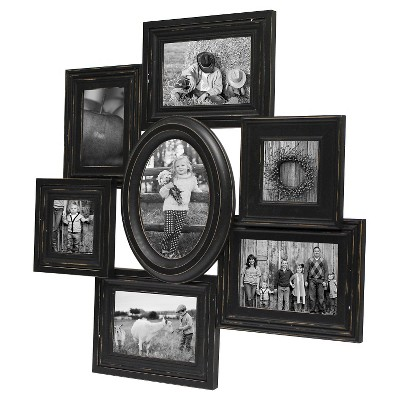 "7 Opening  Distressed Frame Black 4""X6"" - Threshold™"