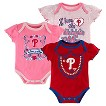 Philadelphia Phillies Girls 3pk Body Suit