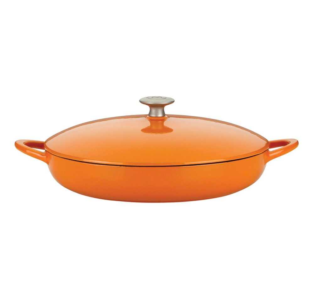 Mario Batali Classic Braiser - Persimmon (2.5qt), Persimmon Orange