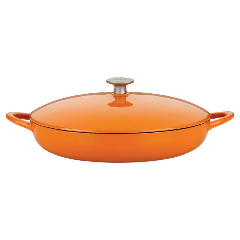 Mario Batali Classic Braiser - Persimmon (4qt), Persimmon Orange