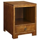 Marketplace by Thomasville Abington Collection 1-Drawer Side Table - Warm Mahogany