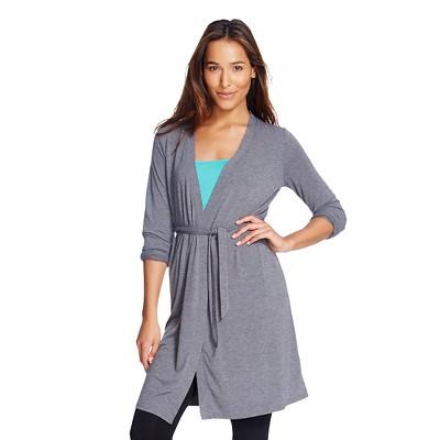 Women's Sleep Fluid Knit Wrap Robe Shaded Blue Gray - Gilligan & O'Malley®
