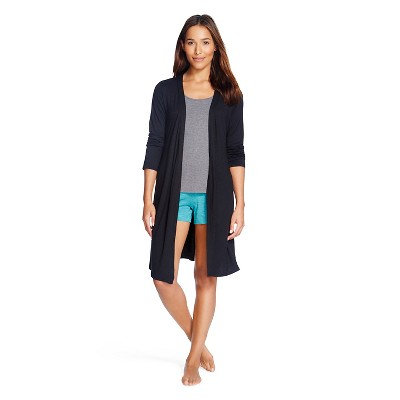 Women's Sleep Fluid Knit Wrap Robe Black - Gilligan & O'Malley™