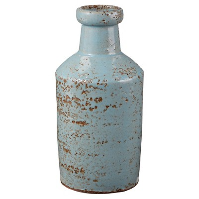 Aged White Milk Bottle