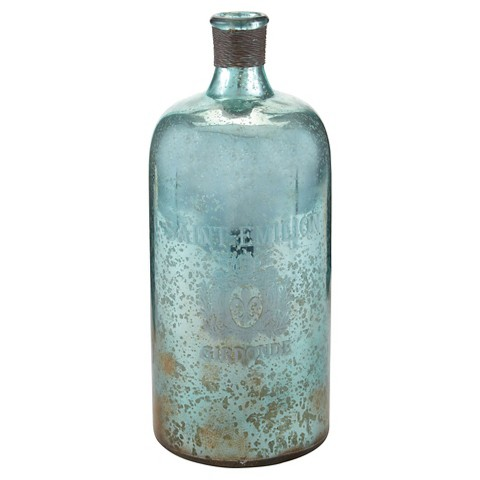 Decorative Antique Aqua Glass Bottle Target