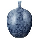 "Decorative Dark Blue Vase (14"")"