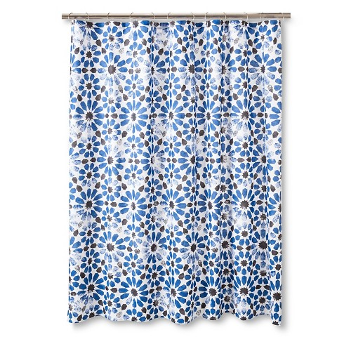 Black And Beige Shower Curtain Taza Blue Shower Curtain