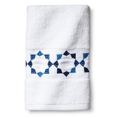 Sabrina Soto Havana Hand Towel - White/Blue