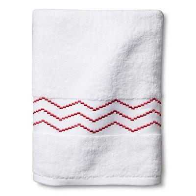 Sabrina Soto Ele Bath Towel - White/Coral