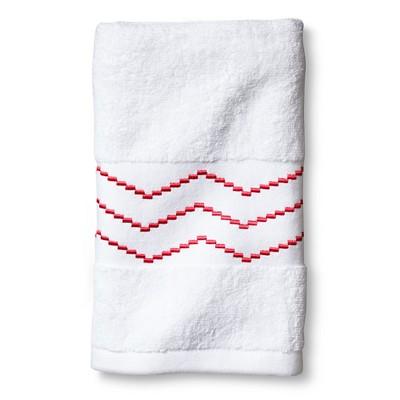 Sabrina Soto Ele Hand Towel - White/Coral